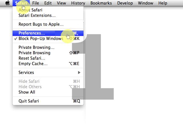 how to turn off javascript in safari mac